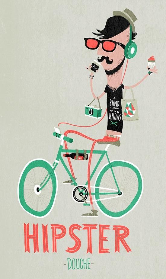 hipster vélo fixie