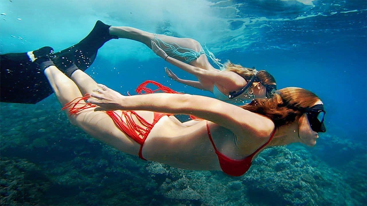 GoPro caméra tendance sous l'eau