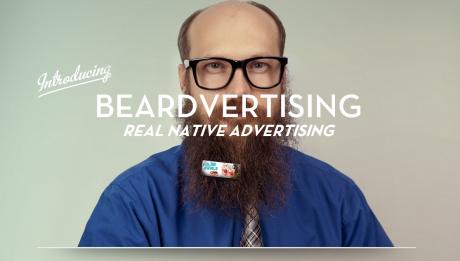Barbe publicitaire