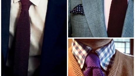 La cravate en laine ou cravate Tricot à porter en toutes circonstances