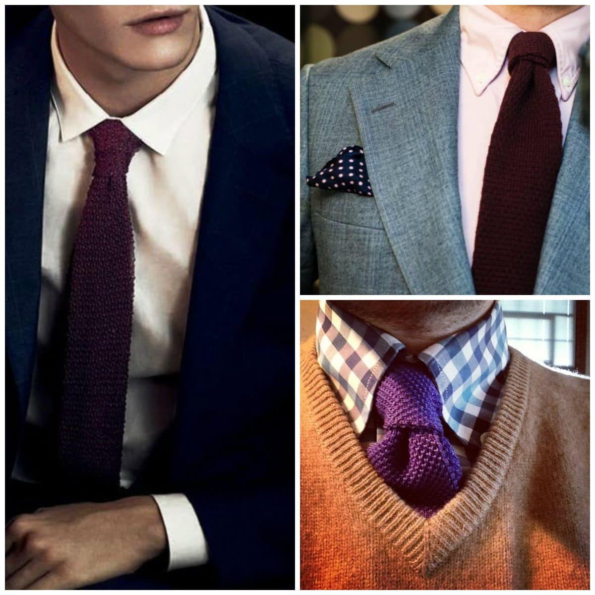 Fabuleux cravate en laine ou cravate Tricot à porter en toutes circonstances VM05