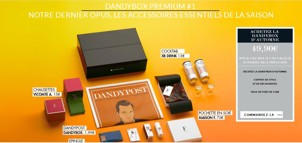 DandyBox box beauté pour hommes