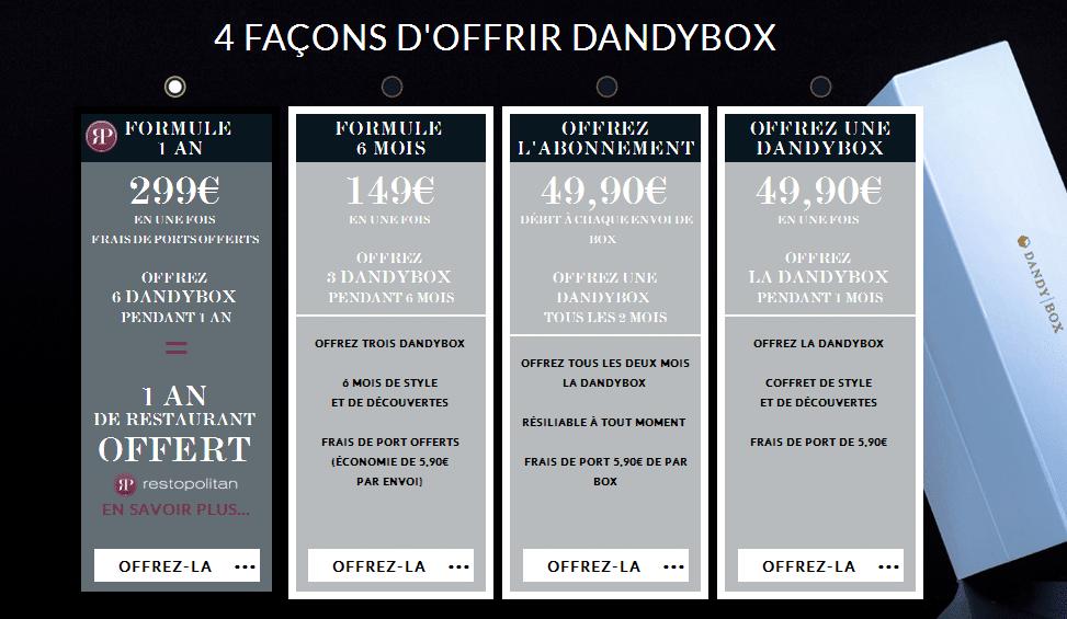 DandyBox offrir box beauté pour hommes