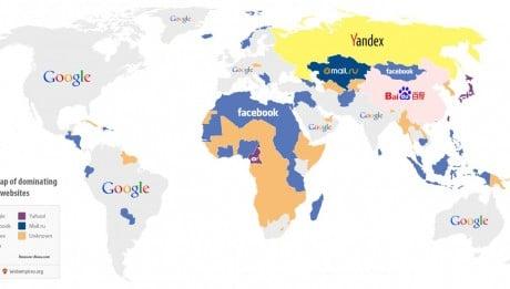Les sites internet les plus visités par pays