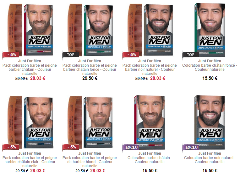 Coloration barbe homme