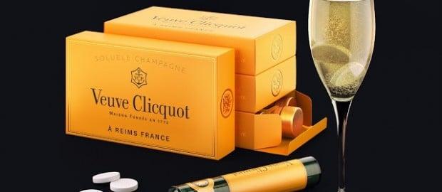Champagne soluble créé par Veuve Clicquot