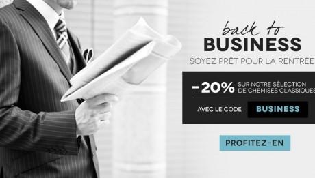Promotion chemises business pour hommes