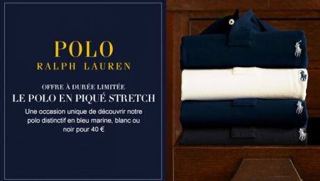 40€ le Polo Ralph Lauren