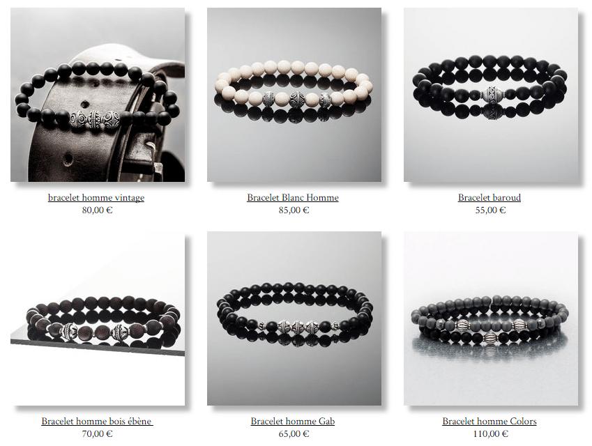 Bien-aimé bijoux homme tendance LV57