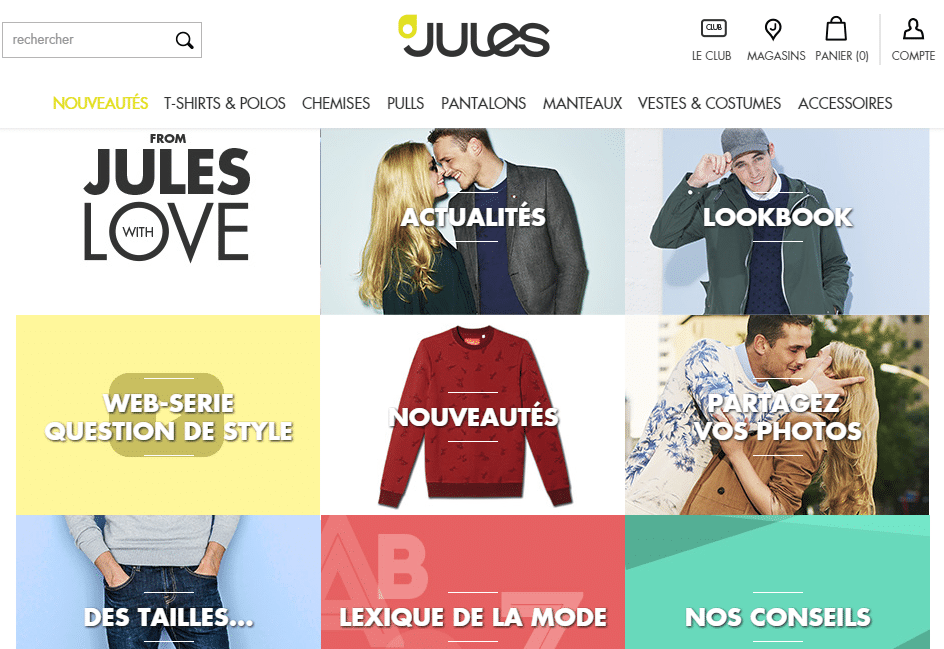 JULES mode homme