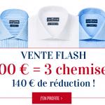 3 chemises pour 100 Euros chez Cafe Coton