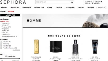 parfums pour homme, maquillage, cosmétiques, soins des cheveux