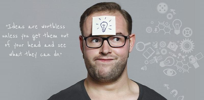 Boîte à idées de l'homme tendance