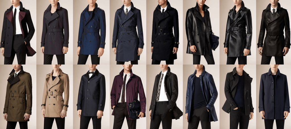 Couleurs Trench-coat homme