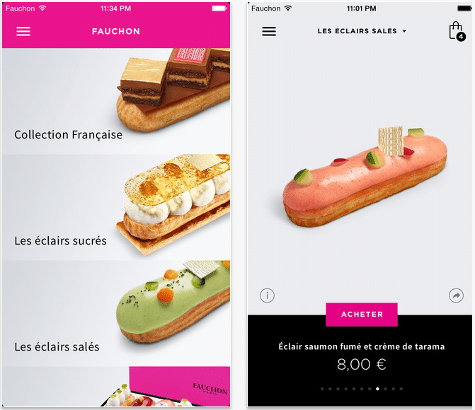 Fauchon application mobile