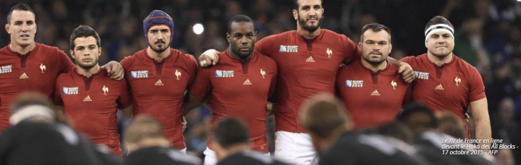 Equipe de France de rugby devant les Blacks