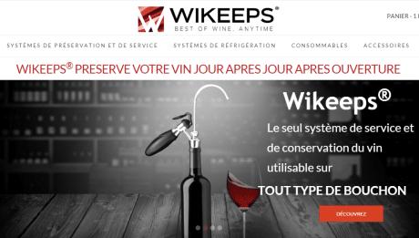 Wikeeps conservation et service vin débouché