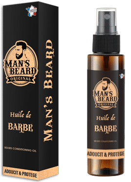 Man's Beard: huile de barbe // Packaging et Flacon