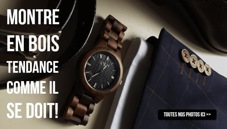 Photos de montres en bois
