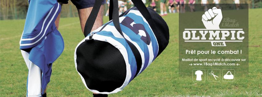 Maillot de rugby transformé en sac de sport