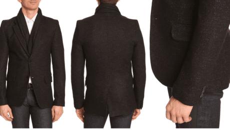 Veste en laine noire pour homme BILLTORNADE 399€