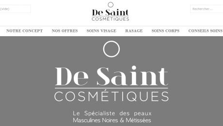 De Saint Cosmétiques est une nouvelle marque de produits cosmétiques vouée à offrir aux peaux masculines noires & métissées une offre adaptée à leurs caractéristiques cutanées