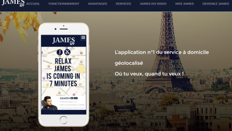 #JAMES : l'application n°1 du service à domicile géolocalisé