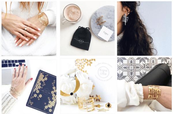 Bijoux de créateurs de la box Emma & Chloé
