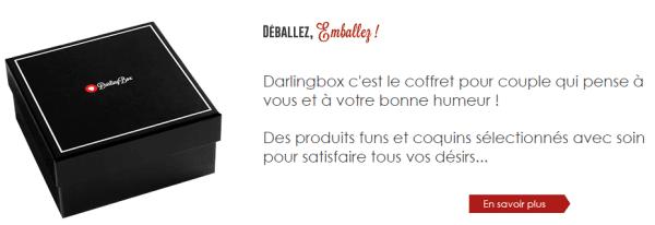 Concept de la darling box pour pimenter votre couple