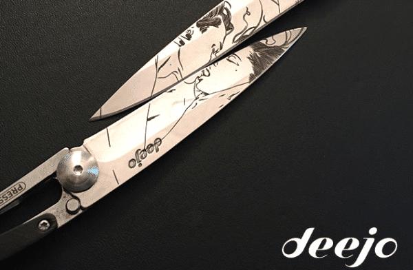 Pour la saint-valentin, osez un set de deux couteaux symbolisant l'amour par un seul et même tatouage pour ne faire plus qu'un.