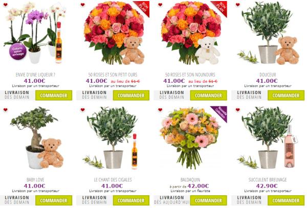 Livraison de fleurs à tous moments
