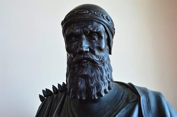 Photo de Venise: Buste en bronze dans le Palazzo Ducale: entrée 18€ par personne avec un droit d'entrée au musée Correr en prime