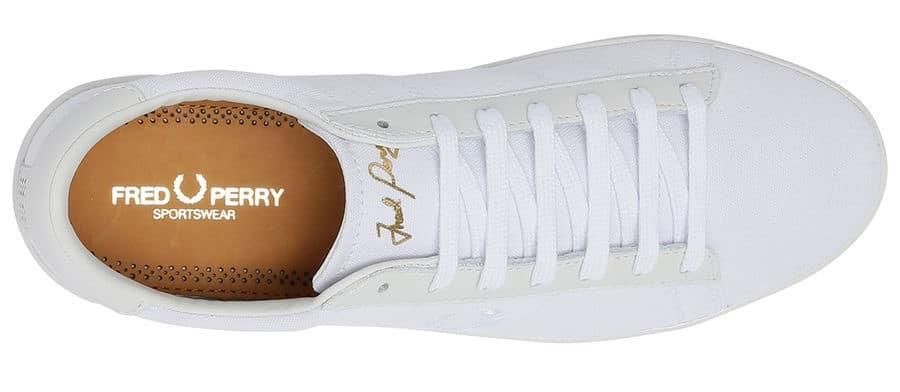 chaussure,homme,ete,blanche,fredperry vue de dessus