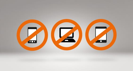 Pas d'accès internet le temps du séjour / Digital Detox