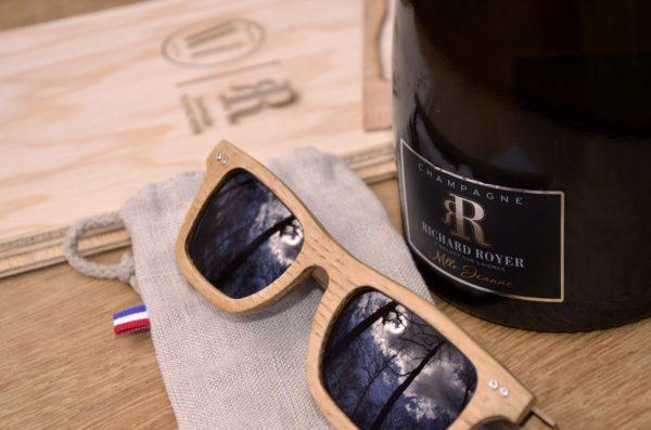 Lunettes de soleil en fût de champagne Richard Royer