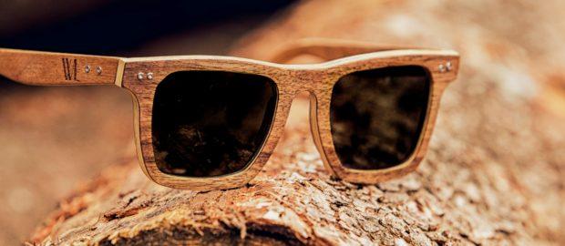 lunettes de soleil en bois de fut de champagne