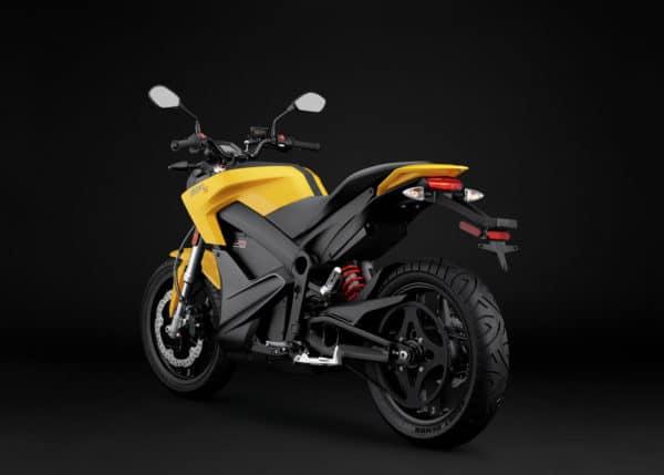 Moto électrique Zero S de profil