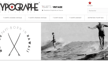 Le-typographe.com: T-Shirts BIO Originaux aux imprimés Vintage