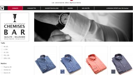 chemises idéal pour les épicuriens
