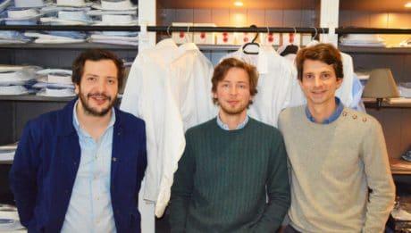 Les trois créateurs de HAST PARIS: chemises haut de gamme pour homme
