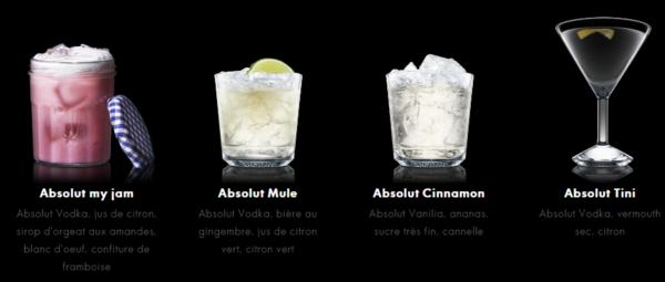 cocktails à base de vodka