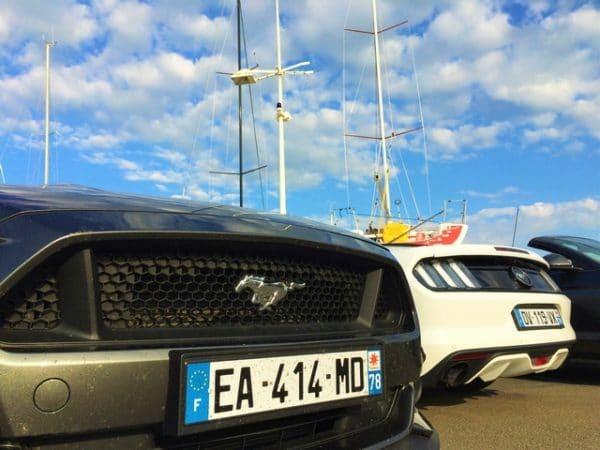 Test Ford Mustang GT VO et EcoBoost sur le port de Saint Gilles Croix de Vie. Photo: L'HommeTendance.fr