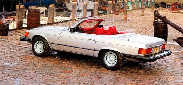 Mercedes-Benz Typ 450 SL (R 107, 1971 bis 1989), USA-Ausführung, Modelljahr 1979.