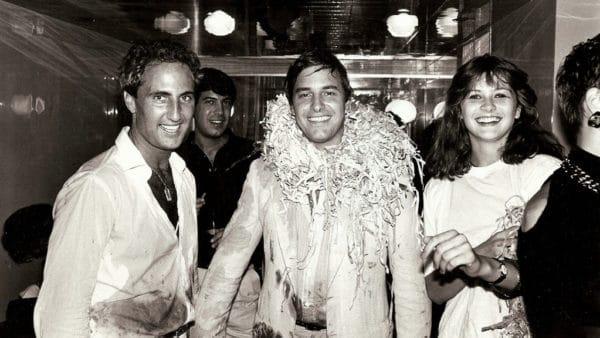 John Casablancas pendant l'une de ses fameuses soirée Elite