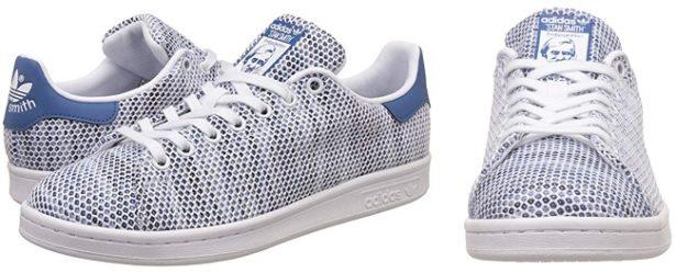 adidas-stan-smith-toile-blanche-bleue