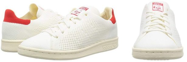 adidas-stan-smith-toile-blanche-rouge