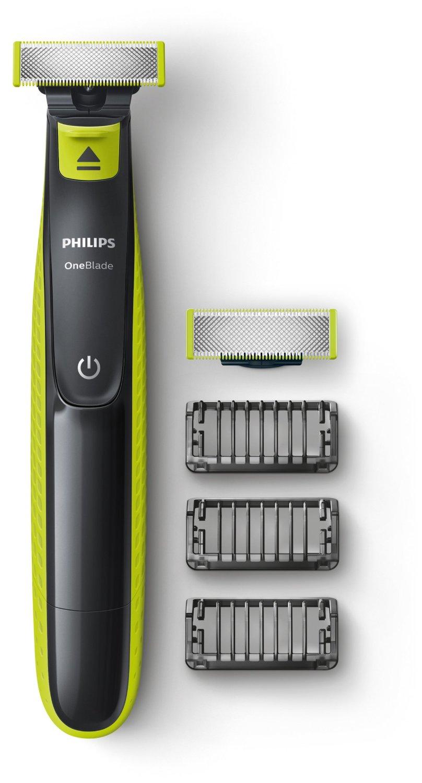 Philips QP2520/30 OneBlade avec lame de rechange + 3 sabots barbe Image