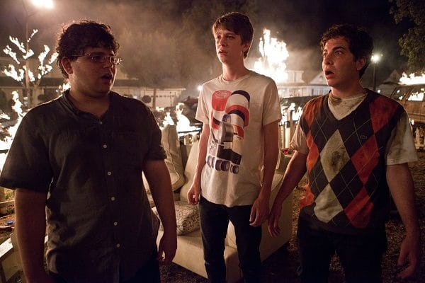 """(L-r) JONATHAN DANIEL BROWN as JB, THOMAS MANN as Thomas, and OLIVER COOPER as Costa in Warner Bros. Pictures' comedy """"PROJECT X,"""" a Warner Bros. Pictures release."""