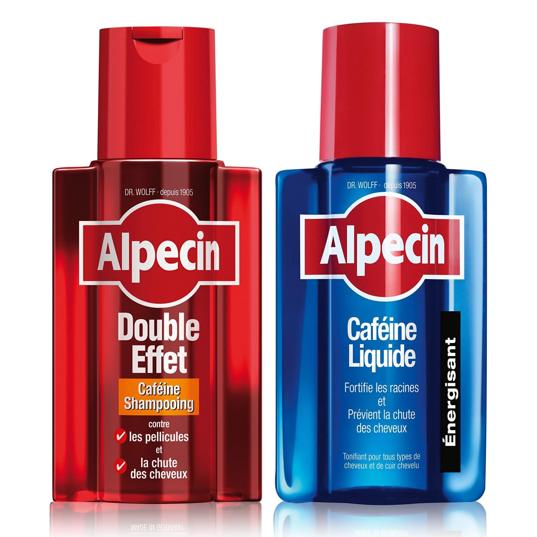 Alpecin Shampooing Caféine Double Effet, 200 ml + Alpecin Caféine Liquide, 200 ml Image