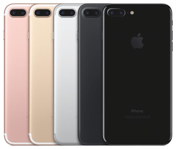 iphone7 les couleurs disponibles